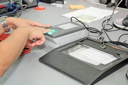 Aparelho de biometria digital
