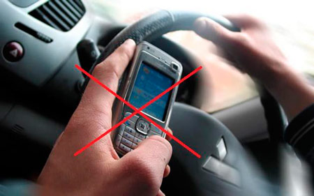 Proibido utilizar celular enquanto dirige